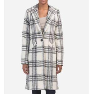 NWT RACHEL ZOE Black and White Plaid Coat